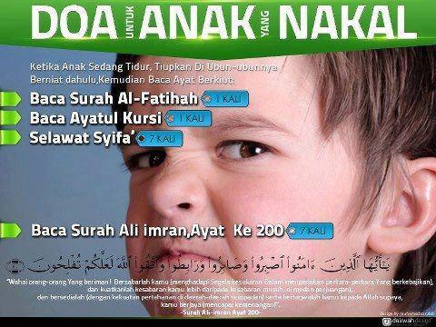 Doa Untuk Anak yang Nakal, -via Ustaz Don Daniyal =)