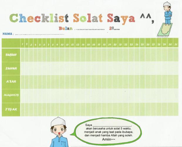 Kartun Dakwah#48 : Checklist Solat Muslimin(Sebagai Galakan Anak2 utk BErsolat).