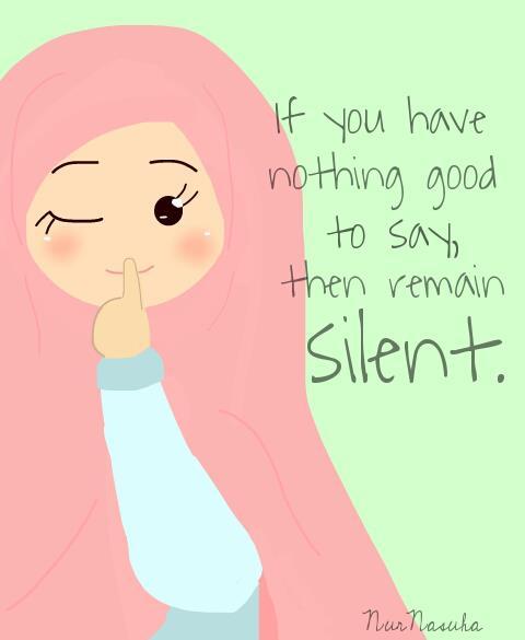 Kartun Dakwah#83 : Diam Lebih Baik Jika Tiada Perkara Baik Untuk Dikatakan.