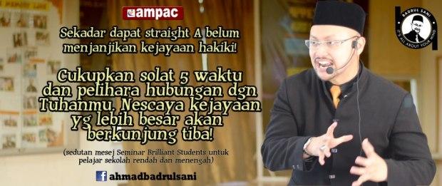 [Abg Badr] : Sekadar Dapat Straight A's Tidak Menjamin Kecemerlangan, tapi..