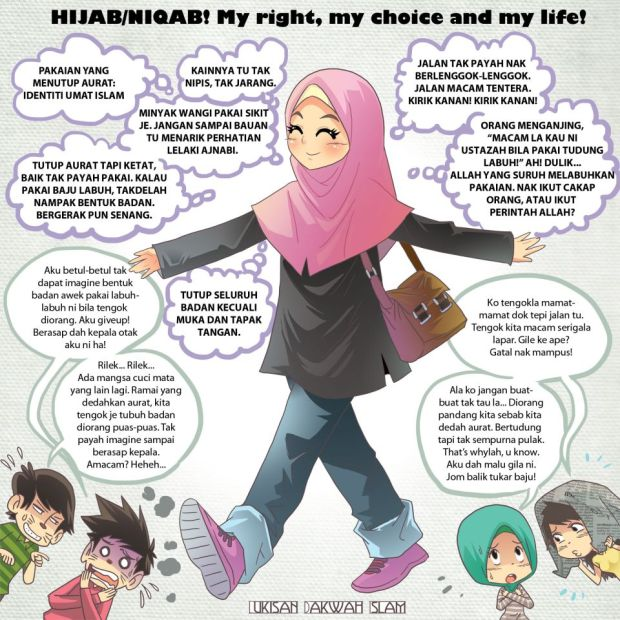 Kartun Dakwah#128 : Hijab/Niqab My Right, My Choice and My Life!