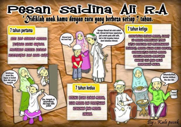 Kartun Dakwah#135 : [Saiyidina Ali r.a] Didiklah anak kamu dengan cara yang berbeza setiap 7 tahun.