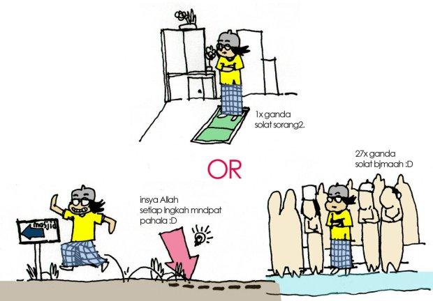 Kartun Dakwah#134 : Solat Sendiri Atau Solat Jemaah ?