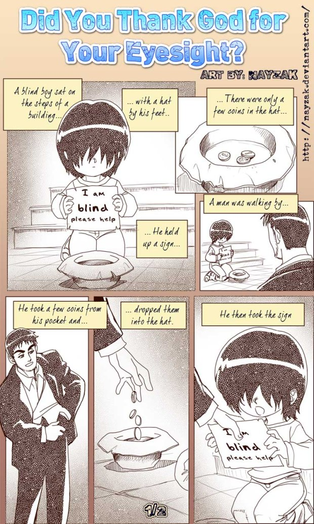 Kartun Dakwah#153 : [COMIC] Do You Thank God For Your Eyesight?