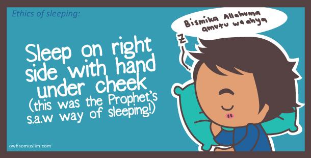Kartun Dakwah#152 : [SUNNAH] Cara Nabi tidur miring ke kanan dengan tangan dibawah pipi.