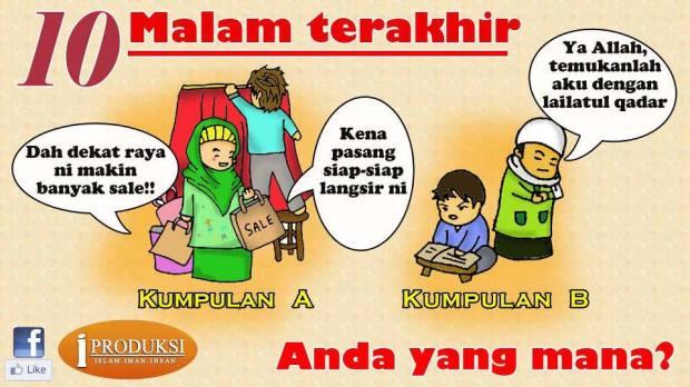 Kartun Dakwah#141 : 10 Malam Terakhir Ramadhan, Anda Yang Mana?