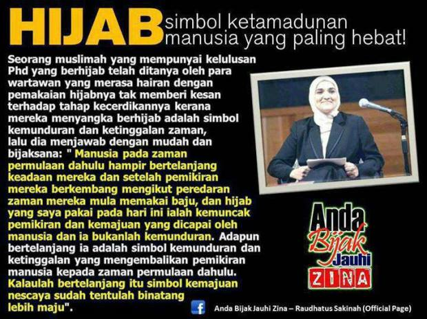 [FAKTA] Hijab, Simbol Ketamadunan Manusia yang Paling Hebat!