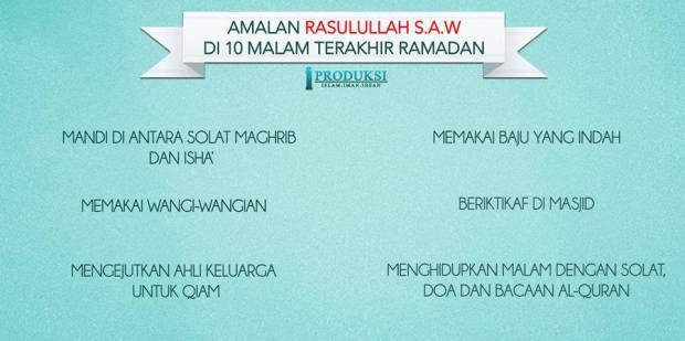 Kartun Dakwah#147 : Amalan Rasulullah SAW Di 10 Malam Terakhir Ramadhan