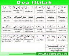 Doa Iftitah (beserta terjemahan per kata)