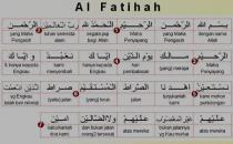 Surah Al-Fatihah (beserta terjemahan per kata)