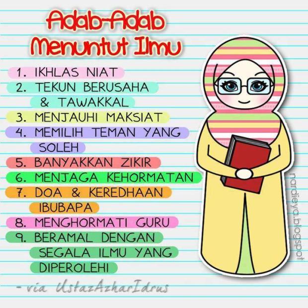 MuslimArt#4 : Adab-Adab Menuntut Ilmu -via UAI