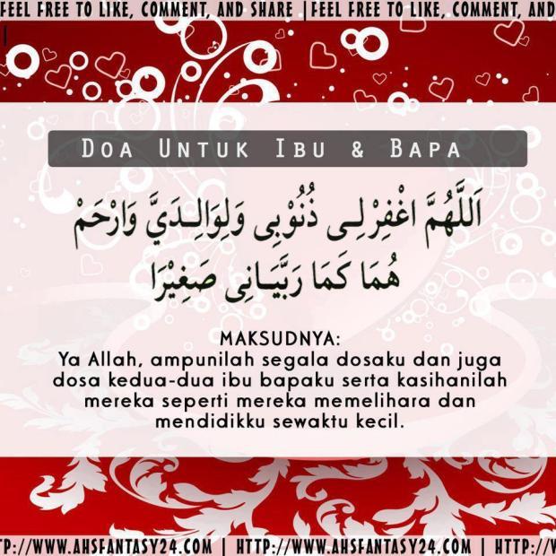 [DOA] Doa untuk Ibu Bapa :)